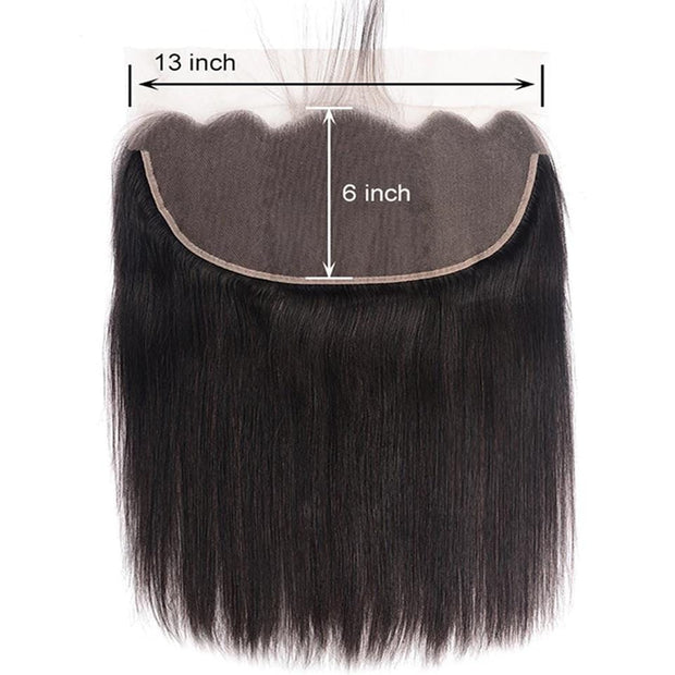 Virgin Hair Ear To Ear 13x6 Lace Frontal Closure Straight Human Hair