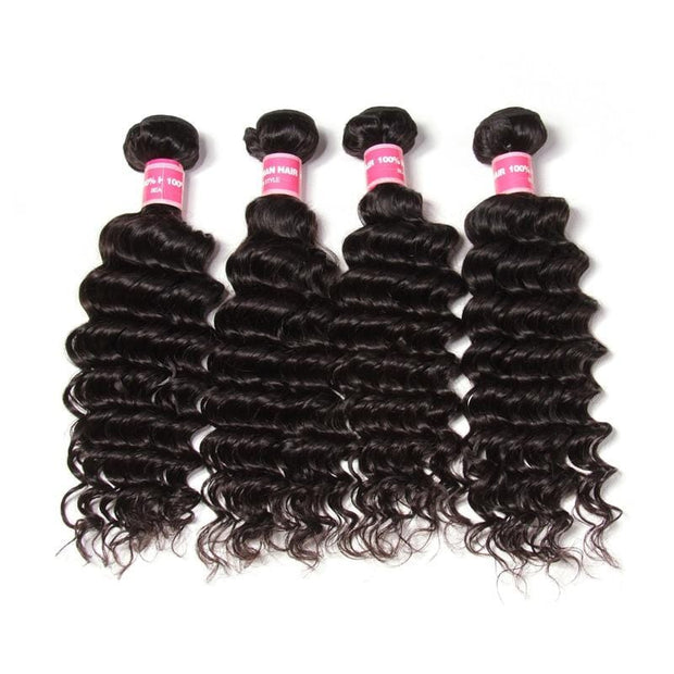 Indian Virgin Hair Deep Wave 4 Bundles Deals-Klaiyi Hair