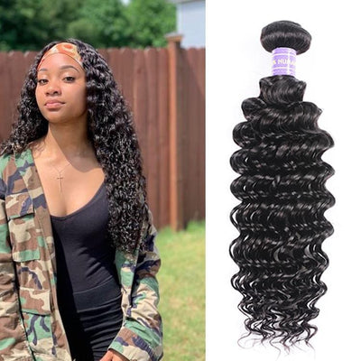 Klaiyi Remy Hair Brazilian Deep Wave 1 Bundle Deal 100% Human Hair Youth Series