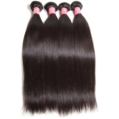 Klaiyi 4pcs/pack Virgin Indian Straight Weave Pure Indian Human Hair Natural Color