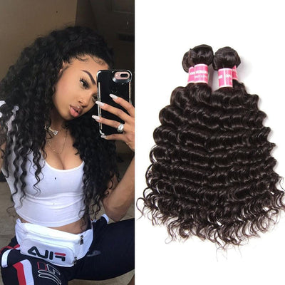 Indian Virgin Hair Deep Wave 4 Bundles Deals