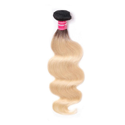 1 Bundles T1B/613 Body Wave Ombre Hair, 2 Tone Color Human Hair Weave