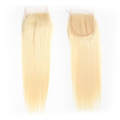 Klaiyi Hair 613 Blonde Straight Hair 4*4 Free Part Lace Closure, 100% Human Hair On Deals