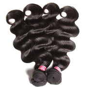 Indian Body Wave 3 Bundles with Ear To Ear Lace Frontal Closure