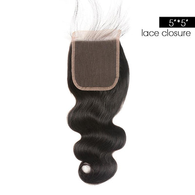 Body Wave 5x5 Lace Closure Human Hair Swiss Lace