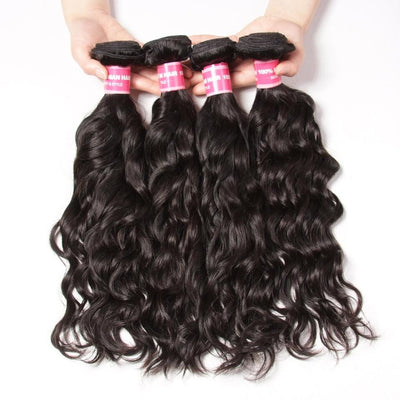 Indian Virgin Hair Natural Wave 4 Bundles 100% Human Hair Weaves Deals-Klaiyi Hair