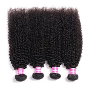 4 Bundles Indian Kinky Curly Virgin Human Hair Weave Deals