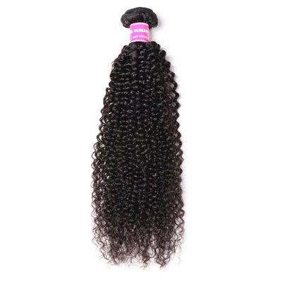 Klaiyi Hair Virgin Kinky Curly 1 Bundle Unprocessed Virgin Remy Human Hair Weave