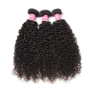 Klaiyi Brazilian Curly Hair 3 Bundles with 13x4 Lace Frontal