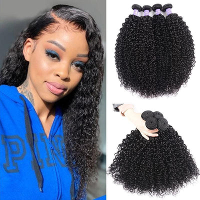 Klaiyi Youth Series Brazilian Hair Weave 4 Bundles Curly Hair Bundles 8-26 Inch