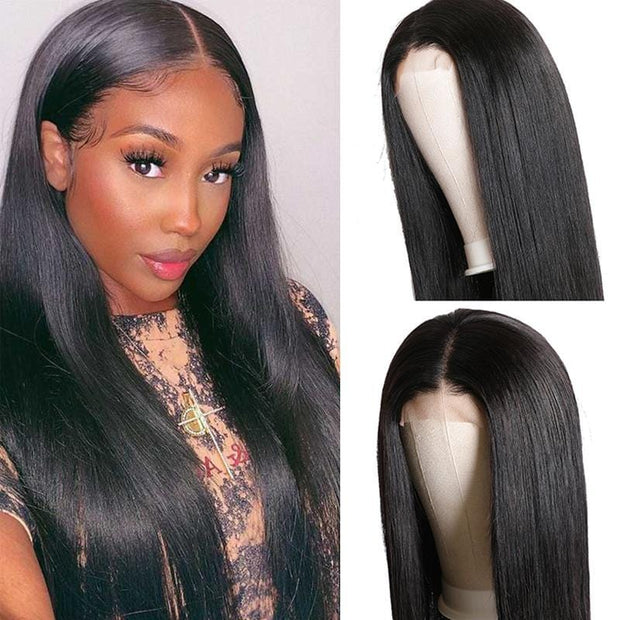 Klaiyi Youth Series 4*4 Closure Wigs 150% Density Body Wave/Straight Human Hair Wigs For Women