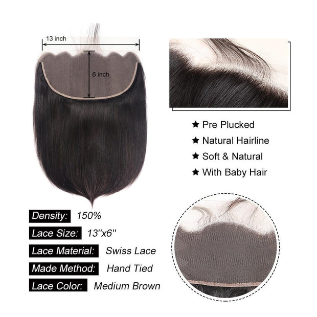 13*6 Lace Frontal Closure-Klaiyi