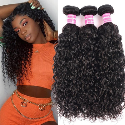Klaiyi Hair 8A Brazilian Loose Water Wave 3 Bundles Natural Curl Virgin Human Hair Weave