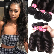 Malaysian Loose Wave 3 Bundles, Virgin Malaysian Human Hair On Sale-Klaiyi Hair