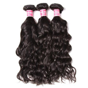 Klaiyi Hair 3 Pieces/pack Peruvian Natural Wave Virgin Human Hair Bundles Natural Color