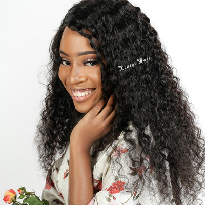 Klaiyi 3Pcs/Pack Peruvian Deep Wave Virgin Human Hair Weft