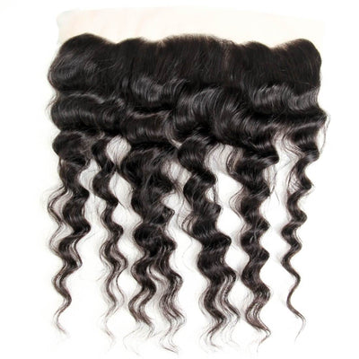 Klaiyi Brazilian Natural Wave Lace Frontal Closure Human Virgin Hair