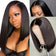 Klaiyi 9A 13*4/13*6 150% density Straight Short Bob Wig Lace Front Human Hair Wigs For Black Women