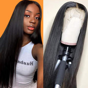 Klaiyi Hair 9A Invisible Lace Straight Hair Human Hair Wigs 150%/180% Density Lace Front Wigs Pre Plucked