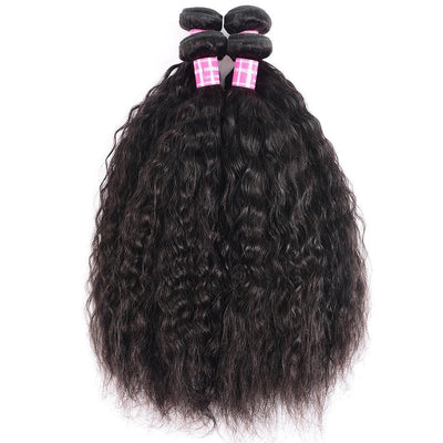 Klaiyi Hair Super Wave 4 Bundles 8A Brazilian Virgin Hair Weave For Black Women