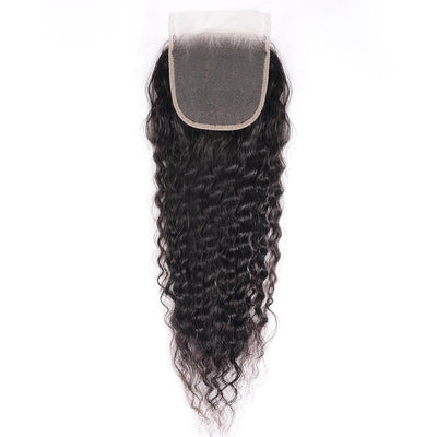 Klaiyi Hair 8A Brazilian Super Wave Lace Closure Free Part 4*4 Front Closure Pre Plucked