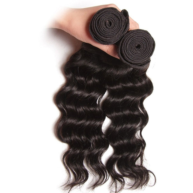 Klaiyi Hair Natural Wave Virgin Human Hair Extensions 1Pcs/pack