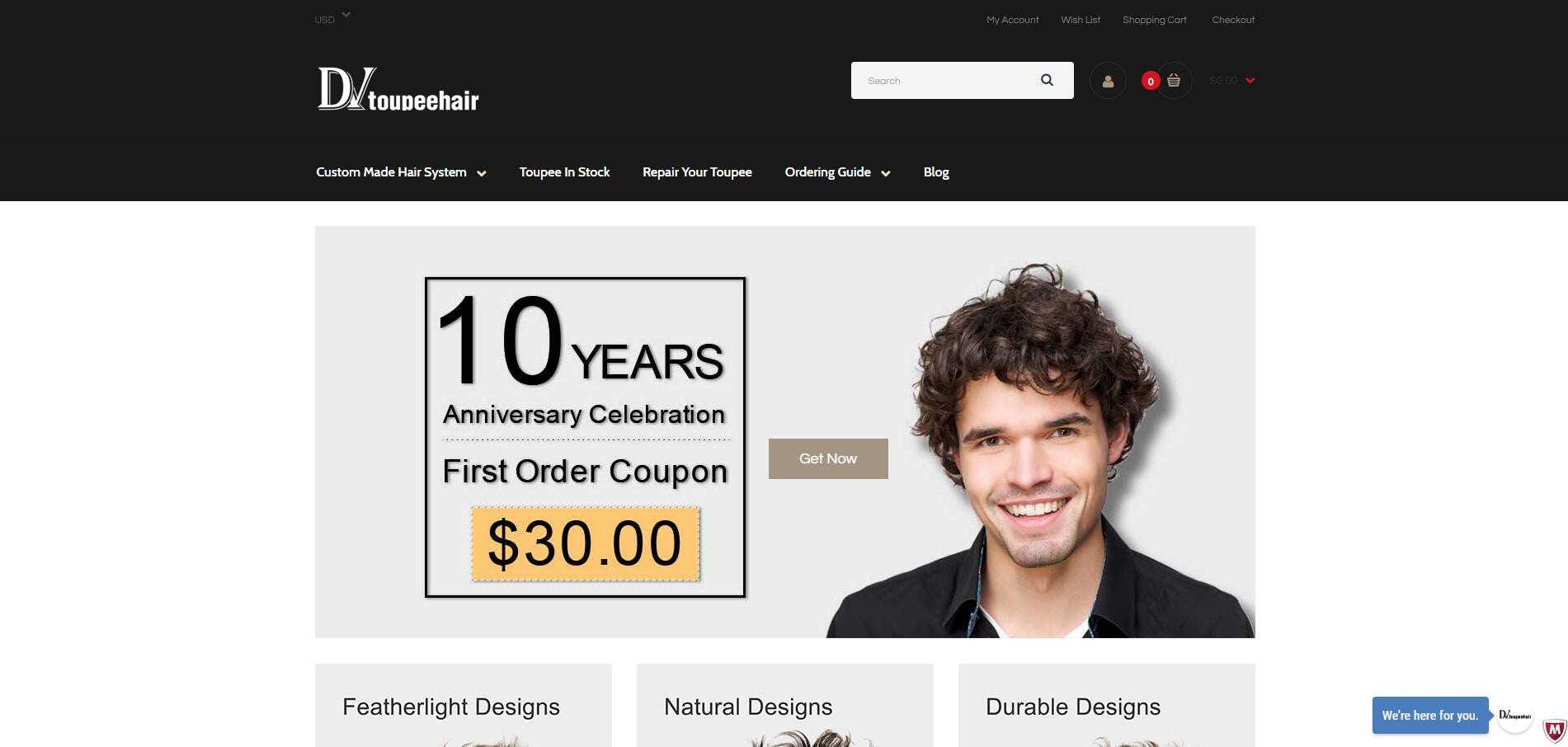 DV Toupee Hair Store Online Upgraded Successfully! Congratulations!
