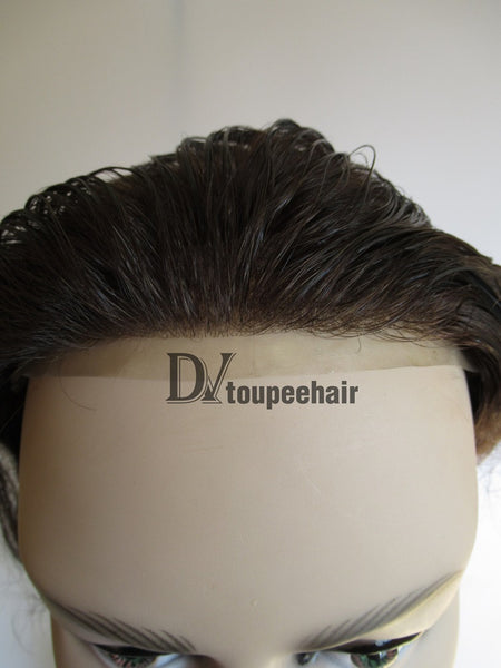 Hair System For Men Super Thin Poly With Hair Single Knotted 8
