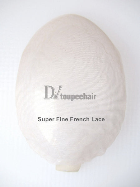 Men's Toupee All Delicate French Lace 1