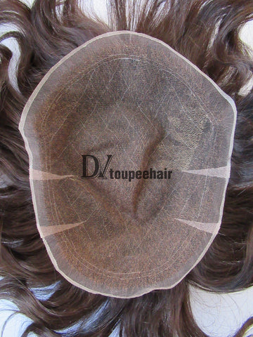 Men's Toupee All Delicate French Lace 2