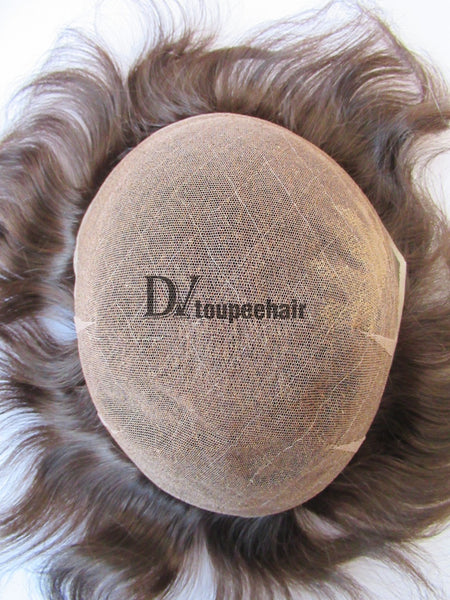 Men's Toupee All Delicate French Lace 3