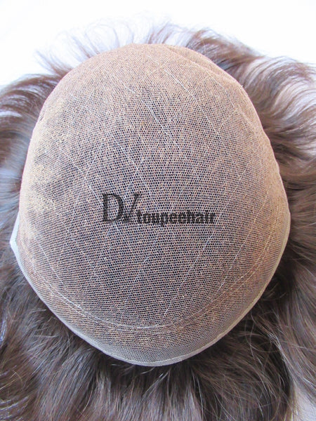Men's Toupee All Delicate French Lace 4