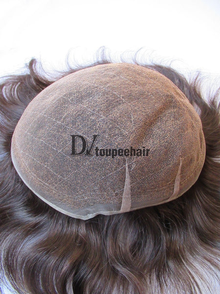 Men's Toupee All Delicate French Lace 6