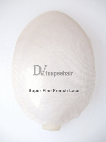 Men's Hairpiece In Stock All Delicate French Lace 2