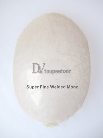 Men's Hair System All Super Fine Welded Mono Base