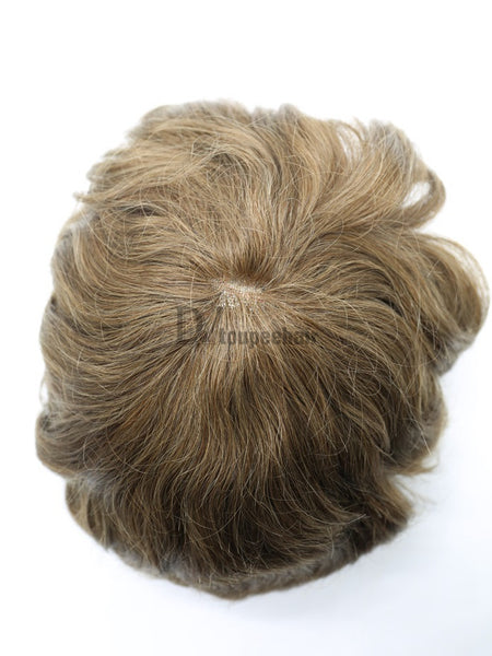 Men's Hairpiece In Stock All Delicate French Lace 5
