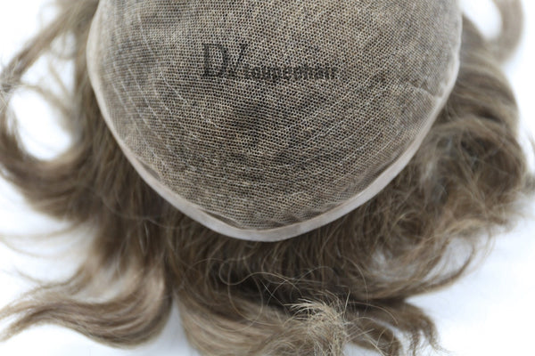 Men's Hairpiece In Stock All Delicate French Lace 3
