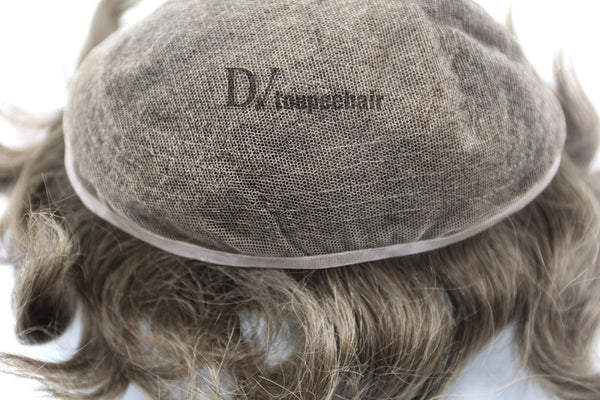 Men's Hairpiece In Stock All Delicate French Lace 4