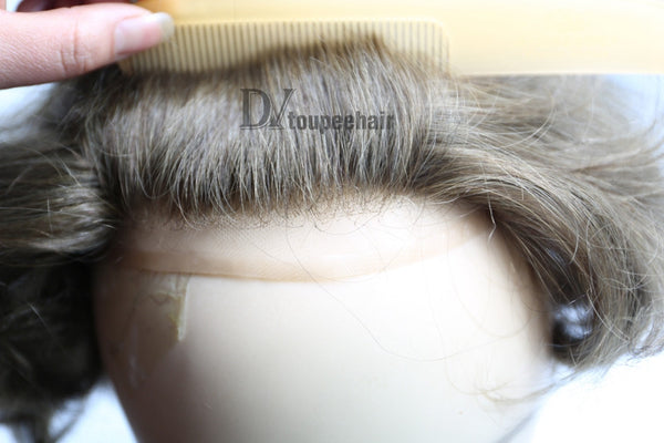 Men's Hairpiece In Stock All Delicate French Lace natural hairline 2
