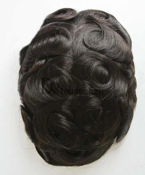 Men's Hairpiece In Stock FYX All Delicate French Lace 3