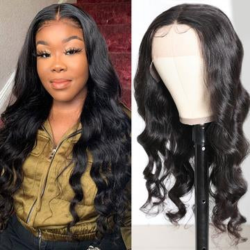 body wave hair T part wig