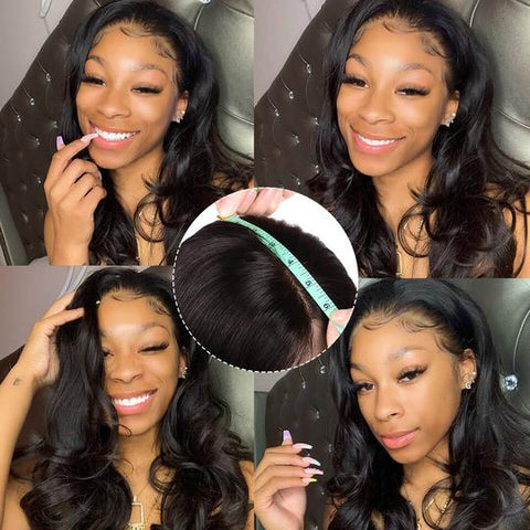 Sunber 9A Grade High Quality 13 By 4 Pre-Plucked Transparent Lace Front Wigs Body Wave Human Hair Wigs Fast Shipping