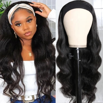 body wave headband wig
