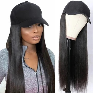 long straight glueless cap wig