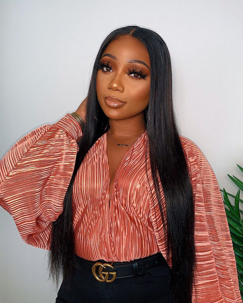 straight hair HD lace front wig