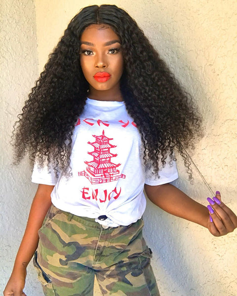 curly hair lace closure wig