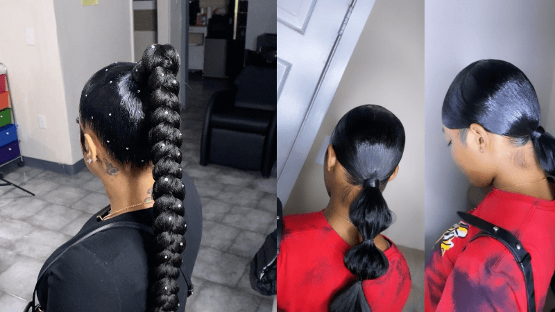 Sunber hair Rope Braid Ponytail and Bubble Ponytail
