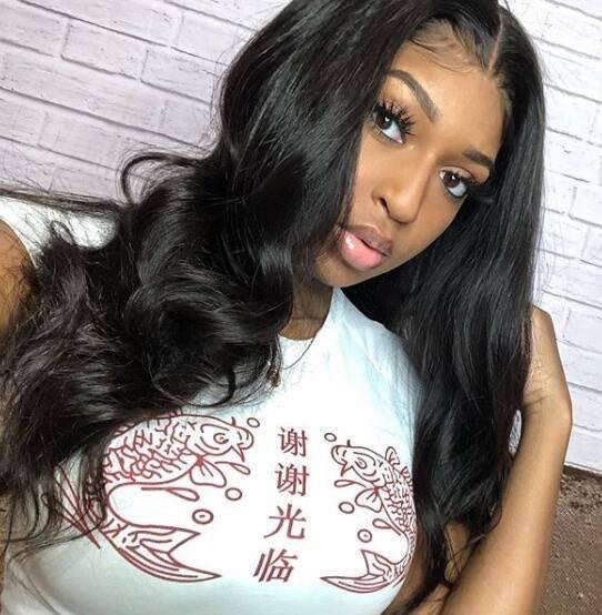 4*4 lace part body wave wig