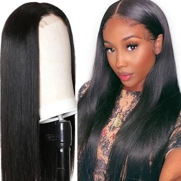 4*4 lace closure remy hair wig