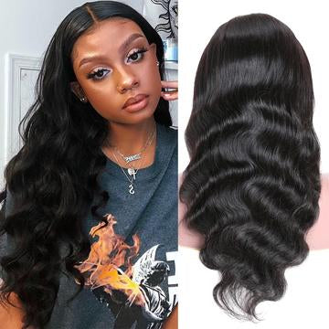 4*4 lace closure wig body wave hair